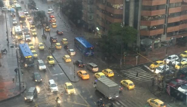Por lluvias se presentan emergencias en Bogotá.