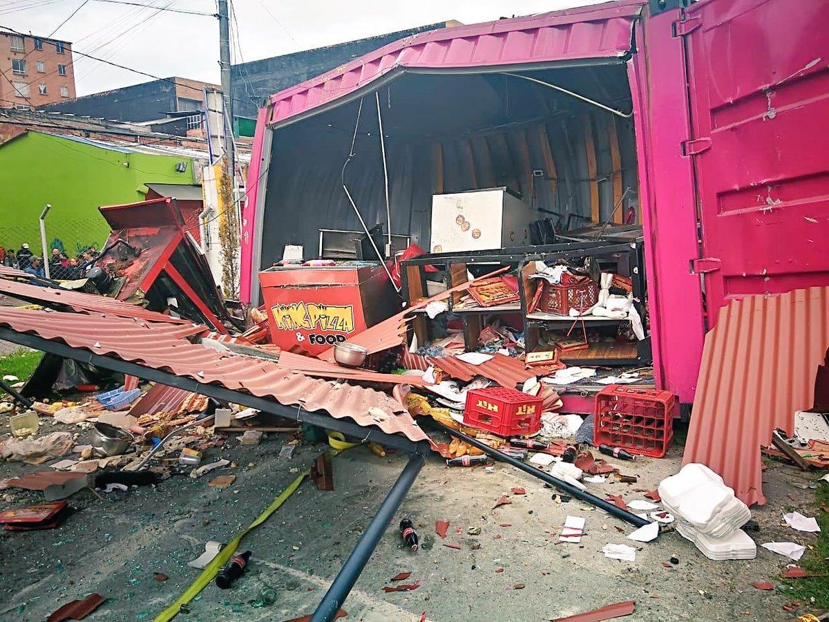 Explosión en Suba por fuga de gas en estación de servicio