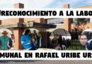 RECONOCIMIENTO A LA LABOR COMUNAL EN RAFAEL URIBE URIBE