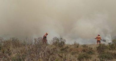 Bomberos controlan incendios al sur de Bogotá