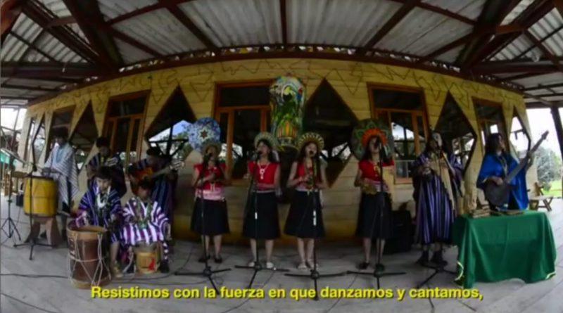Bastones de paz por la dignidad del pueblo ancestral