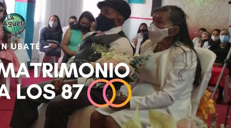Abuelos de 87 años se casan en Ubaté