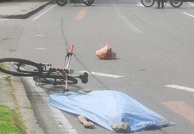¡Tragedia! Joven ciclista falleció luego de ser arrollado por un Sitp en Suba