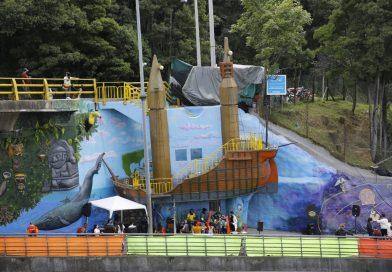 """#SiSePuede entregan restaurado el monumento """"El Barco"""" en la localidad de Suba"""