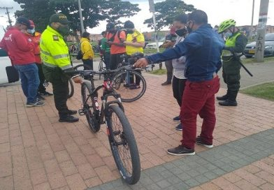 Marcación y registro de bicicletas en Suba para disminuir hurtos