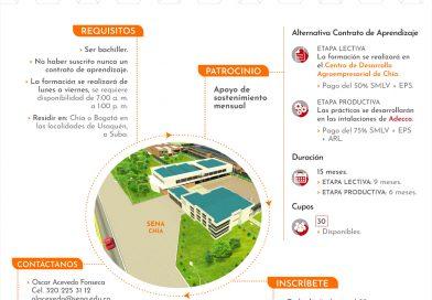 Convocatoria de formación en Asistencia Administrativa para Chía y las localidades de Suba y Usaquén