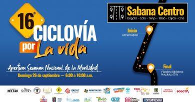 'Cicloruta por la vida – pedaleando por Cundinamarca' este 26 de Septiembre